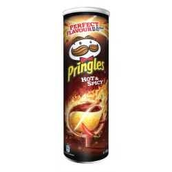 PRINGLES HOT & SPICY 165GMS.