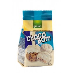 GULLON CHOCOBOM BLANCO 100GMS.