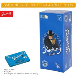 SMOKING BLUE BLOC 20U/.