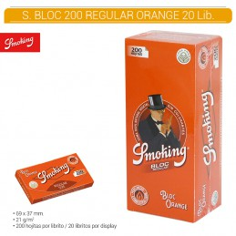 SMOKING ORANGE BLOC 20U/.