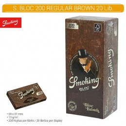 SMOKING BROWN BLOC 20U/.
