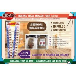 MIKADO TIRAS 75GMS. 2 X 12U/.