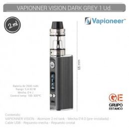 VAPIONEER VISION GRIS/NEGRO...